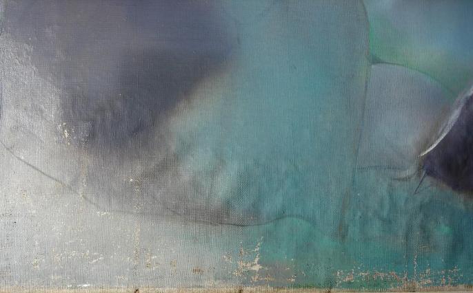 Le Temple, par Philippe Lejeune, 1986, huile sur toile