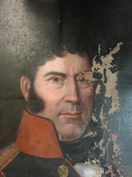 Portrait de Général Corse, XIXe siècle, huile sur toile