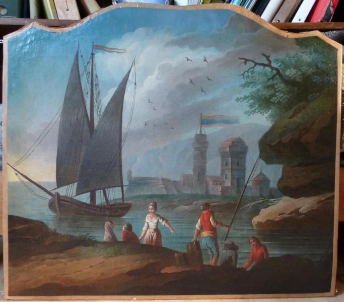 Trumeau : Marine, XVIIIe siècle, huile sur toile