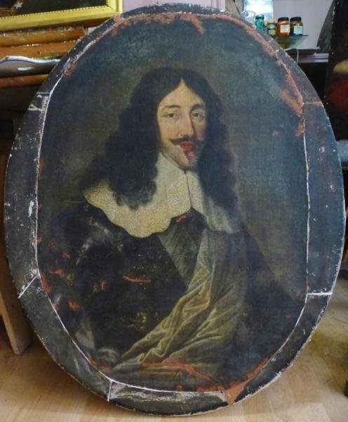 Portrait de Louis XIII, France, 17e siècle, huile sur toile