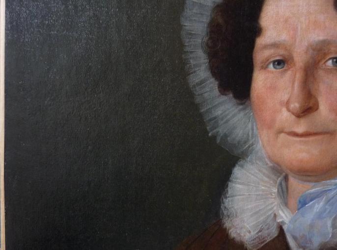 Portrait de femme, XIXe siècle, huile sur toile